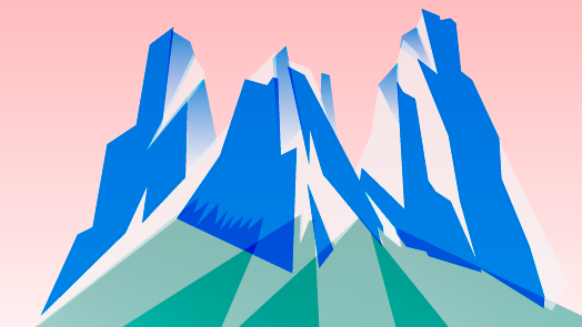 Summer Break: Illustration with Dolomite mountains